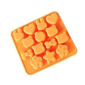 Hosaire - Stampo in silicone per torte, biscotti, gelati, pasticceria, cioccolato, fondente, 3D, a forma di coniglio e… 12 spesavip