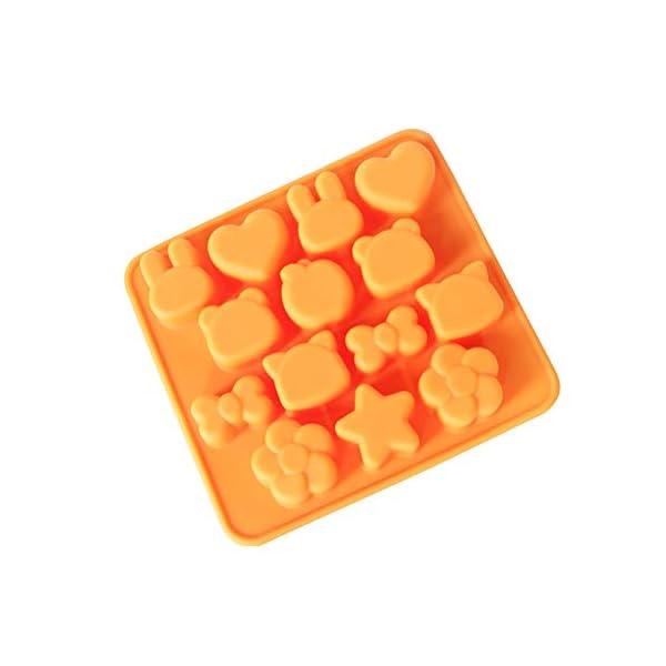 Hosaire - Stampo in silicone per torte, biscotti, gelati, pasticceria, cioccolato, fondente, 3D, a forma di coniglio e… 1 spesavip