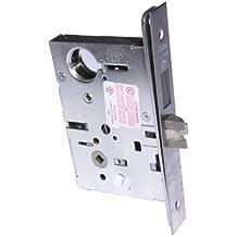 "Corbin Russwin ML2024 Satin Chrome Entrance/Storeroom Knob Mortise Lock, 1-3/4"" Door Thickness (Pack of 1)"