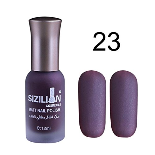 (Coohole Liquid Matte Dull Nail Polish Fast Dry Long Lasting Nail Art Matte Nail Polish Gel, 0.4 oz (0.4 oz, C))