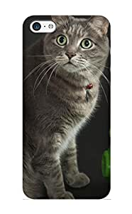 Exultantor Top Quality Rugged Animal Cat Case Cover Deisgn For Iphone 5c For Lovers