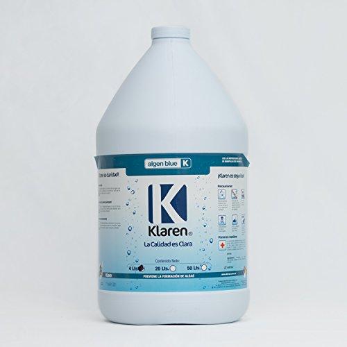 Algicida Algen Blue Klaren 4 Lts. Químico para Eliminar Algas de Albercas, Piscinas y Spas.
