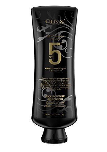 Onyx Bronzer No. 5 BLACK Bottle, Tanning Lotion with TRUbronze (Height Black Onyx)