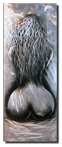 Konda Art - Original Handcraft Aluminum Woman Nude Body Metal Wall Art Modern Abstract Sculpture Art Home Decor (12