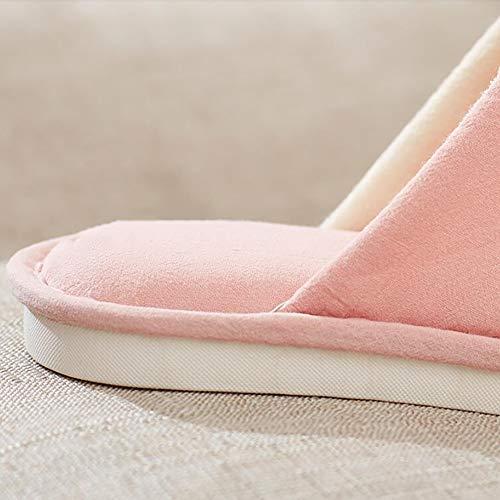 Mignon Doux Coton Peluche Antidérapant Chaussons Plancher Chambre Green Pink Tongs SHANGXIAN Intérieure Unisexe 37 38 Maison pour wqY10R1