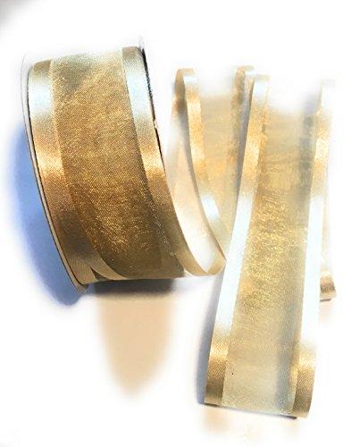 1-1/2-Inch Organza with Satin Edge Ribbon -1 1/2