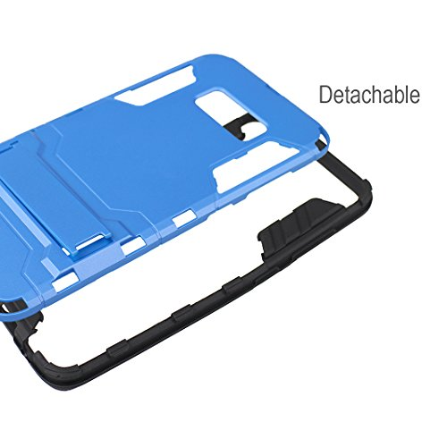 """Rosa Schleife Ultra Delgada Samsung Galaxy S8 Funda de Protección Híbrido Armadura Escabroso Caso Doble Capa Carcasa Trasera Función de Soporte Funda de Móvil Para Samsung Galaxy S8 (5.8""""), Gris Azul"""