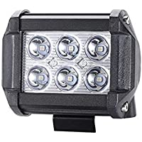 Toby's 2Pcs 4Inch Spot Beam 18W Led Work Light Bar Pods Cube Driving Fog Lights For Ford Jeep Toyota Polaris RZR Ranger…