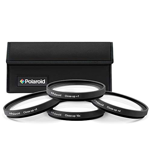 Polaroid Optics 58mm 4-Piece Filter kit Set for Close-Up Macro Photography; Includes +1, +2, +4 & +10 Diopter Filters & Nylon Carry Case – Compatible w/ All Popular Camera Lens Models