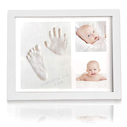 Baby Handprint Footprint Keepsake Kit – No Mold Baby Prints Photo Frame for Newborn – Baby Nursery Memory Art Kit Frames – Baby Shower Picture Frames Boys,Girls – Baby Registry Gift Box