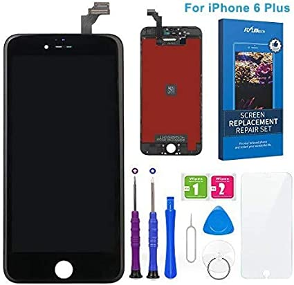 FLYLINKTECH Pantalla Táctil LCD Reemplazo para iPhone 6 Plus Negro 5.5