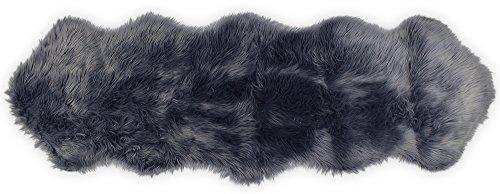 (Nouvelle Legende Faux Fur Sheepskin Premium Rug Duo (23 in. X 73 in.) Gray)
