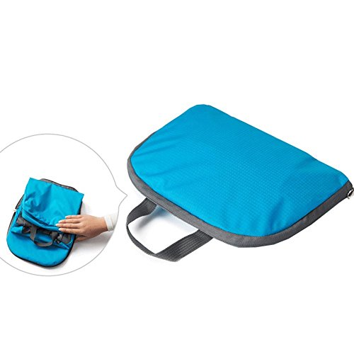 HOMEE Travel rucksack waterproof simple bag nylon folding bag light and easy to carry storage bag twoblue by HOMEE