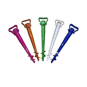 CLISPEED Picchetto per Ombrellone Regolabile per Ombrellone da Spiaggia Pesca Sole Giardino (Colore Casuale) 4 spesavip