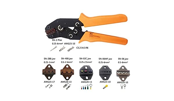 Ternimal Plier Crimper AWG 20-10 for Non-Insulated Tabs 1.5-6MM2