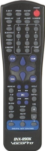 Brand New Vocopro Dvx-890k Pro Karaoke Dvd, Cd, Mp3, Cd+g, Divx Player with Usb Input and Sd Card Reader + Digital Key Controls, Digital Echo, and 5.1 Channel Surround and Hdmi Output
