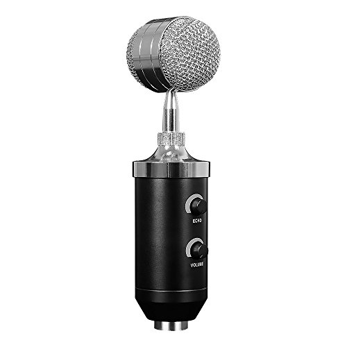 HIOTECH Condenser Microphone Professional Studio Desktop Recording Mic Microphone with Pop Filter & Tripod for Comouter Podcast Broadcast YouTube Studio by HIOTECH