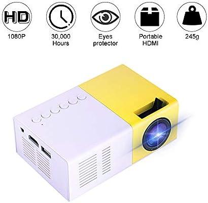 garsent Mini proyector, 1500 lúmenes Proyector de Video portátil ...