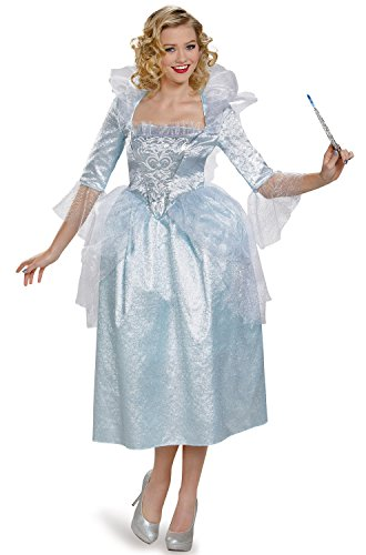 Disguise Women's Fairy Godmother Movie Adult Deluxe Costume, Blue, Large
