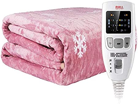 Manta eléctrica con calefacción individual, 4 niveles de calor agradable a la piel transpirable apagado automático, deshumidificación manta térmica, los mejores regalos durante toda la noche Uso 220V: Amazon.es: Hogar