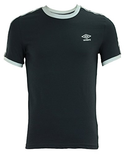 Umbro Men's Signature Short Sleeve Shirt, Graphite/White - Soccer T-shirt Umbro