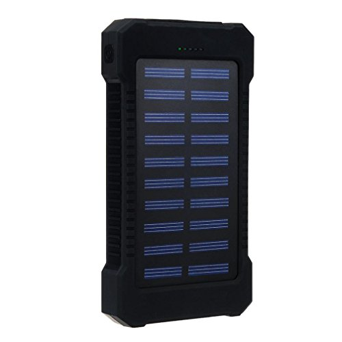 - Gotd 30000mAh Dual USB Portable Solar Battery Charger Solar Power Bank For Cell Phone (Black)
