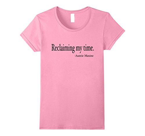 Womens Maxine Waters Shirt Reclaiming My Time Funny Political Quote Medium Pink (Maxine On Halloween)