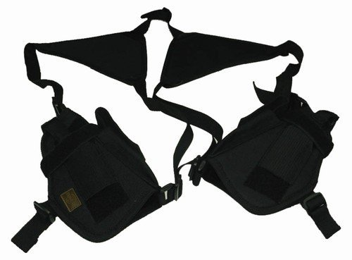 Black Airsoft / Pistol Gun Double Shoulder Holster TaiGear