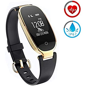 Fitness Tracker for Women Activity Watch and Heart Rate Monitor IP67 Waterproof Smart Bracelet with Sleep Monitor Pedometer Calorie Compatible with Android ...