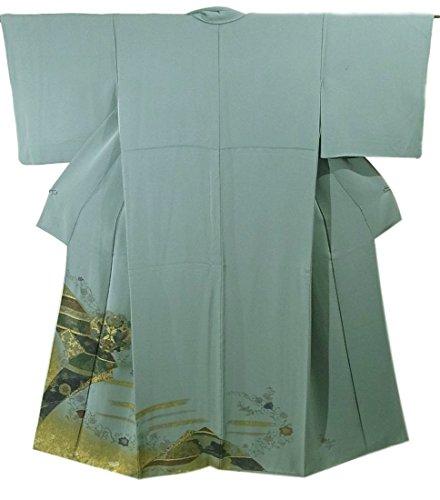 患者観察する悩むリサイクル 着物 訪問着 刺繍 花鳥文 正絹 袷