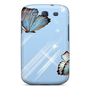 New Butterfly Blues Tpu Skin Case Compatible With Galaxy S3