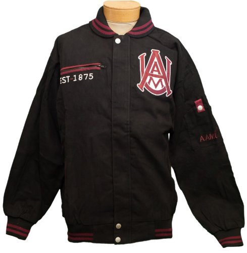 New! Alabama A&M University Zip- Up Embroidered Jacket Size L by Unknown