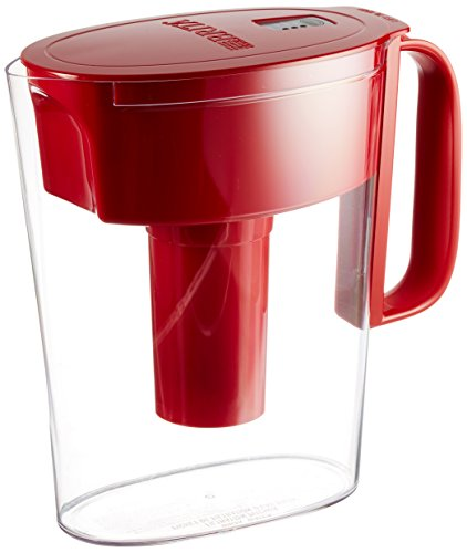 Brita Metro Water Exclude Pitcher, Red, 5 Cup
