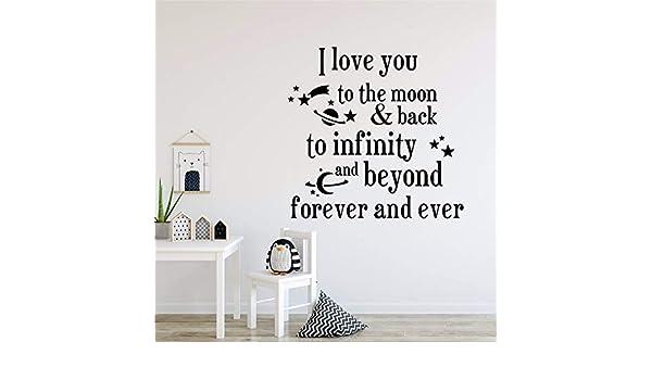 57x55cm Babys Room Decor I Love You To The Moon Cita Etiqueta de ...