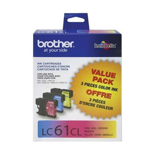 (Brother International, 3 Pk - 1 Cyan, Magenta,Yellow (Catalog Category: Printers- Inkjet/Dot Matrix / Inkjet)