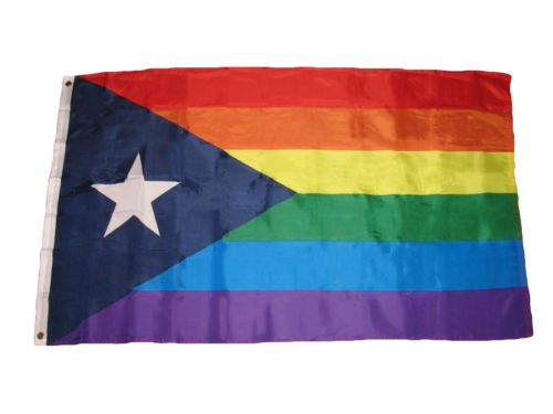 New They can be used indoors or outdoors.3x5 Puerto Rico Rainbow Gay Pride Flag 3'x5' Banner Brass Grommets premium .The authentic design is based on information from official sources