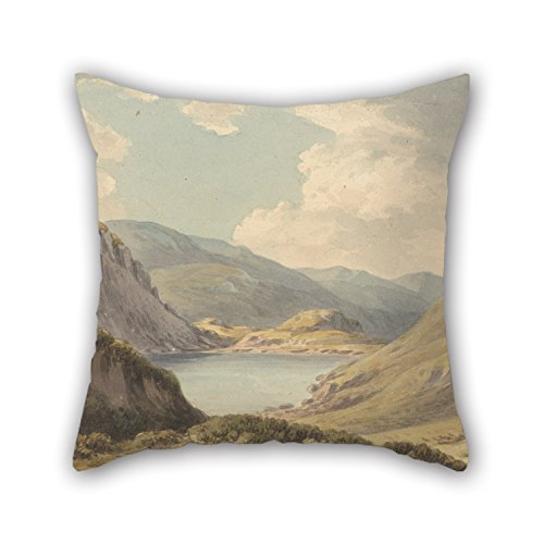 Artistdecor Oil Painting John Warwick Smith - Llyn Geirionedd Not Far From Trefriew, On The River Conway, Carnarvonshire Cushion Cases ,best For Monther,family,father,living Room,office,sofa 16 X ()