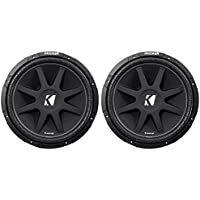 (2) KICKER 43C154 Comp 15 Car Subwoofers Totaling 1200 Watt With Single Voice Coil