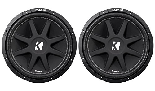 "(2) KICKER 43C154 Comp 15"" Car Subwoofers Totaling 1200 Watt With Single Voice Coil"