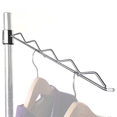 Sloped Hanger Rail for Wire Shelving