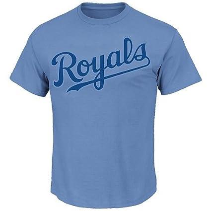 amazon com majestic light blue kansas city royals 100 cotton