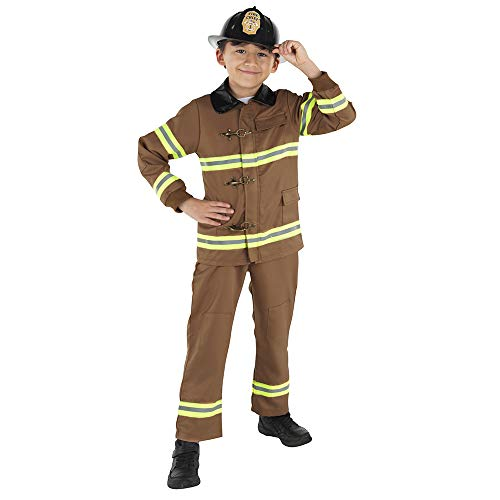 Dress Up America Fireman Costume for Kids - Role Play Firefighter Costume]()