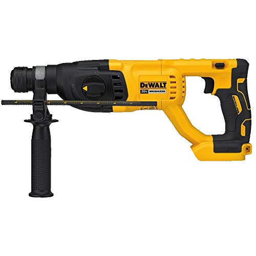"- DEWALT DCH133B 20V Max XR Brushless 1"" D-Handle Rotary Hammer Drill (Tool Only) (Renewed)"