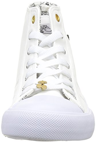 Le Temps des Cerises Origin High, Women's Hi-Top Slippers Blanc (Heart White)