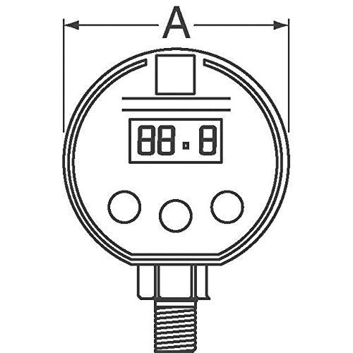 SENSOR DIGITAL GAUGE 300PSI LCD (Pack of 1) (MGA-300-A-9V-R)
