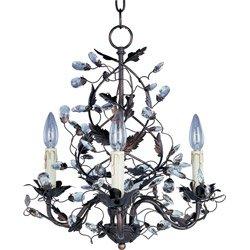 Maxim Lighting 2850OI Elegante 3-Light Chandelier, Oil Rubbed Bronze Finish