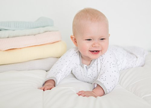 Large Product Image of Amazing Baby Cellular Blanket, Premium Cotton, Sunwashed SeaCrystal