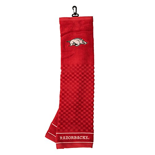 (University of Arkansas Embroidered Golf Towel)