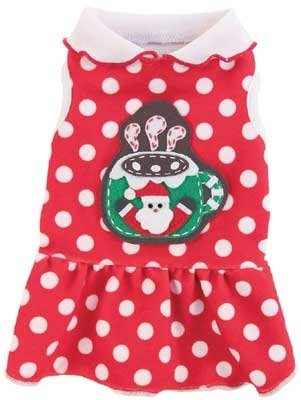 Ruff Ruff Couture Christmas Cocoa Dress for Dogs ()