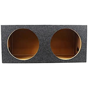 Rockville RD12 Dual 12 1.25 cu.ft. 3/4 MDF Sealed Subwoofer Enclosure Sub Box